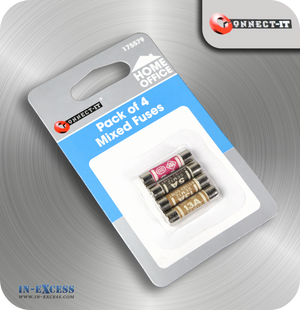 Connect-It Mixed Replacement Fuses - Pack of 4