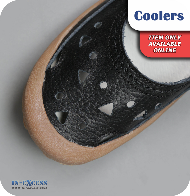 Coolers Premier Leather Sandals - Black