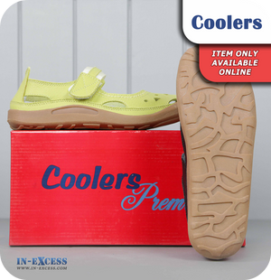 Coolers Premier Leather Sandals - Green
