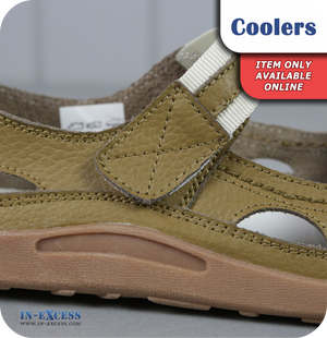 Coolers Premier Leather Sandals - Taupe