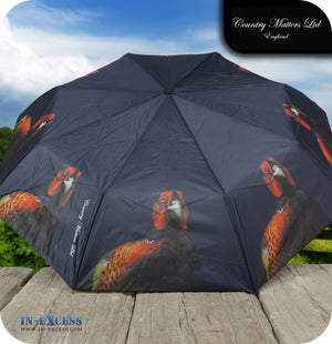 Country Matters Telescopic and Folding Umbrella - 'Pheasant'
