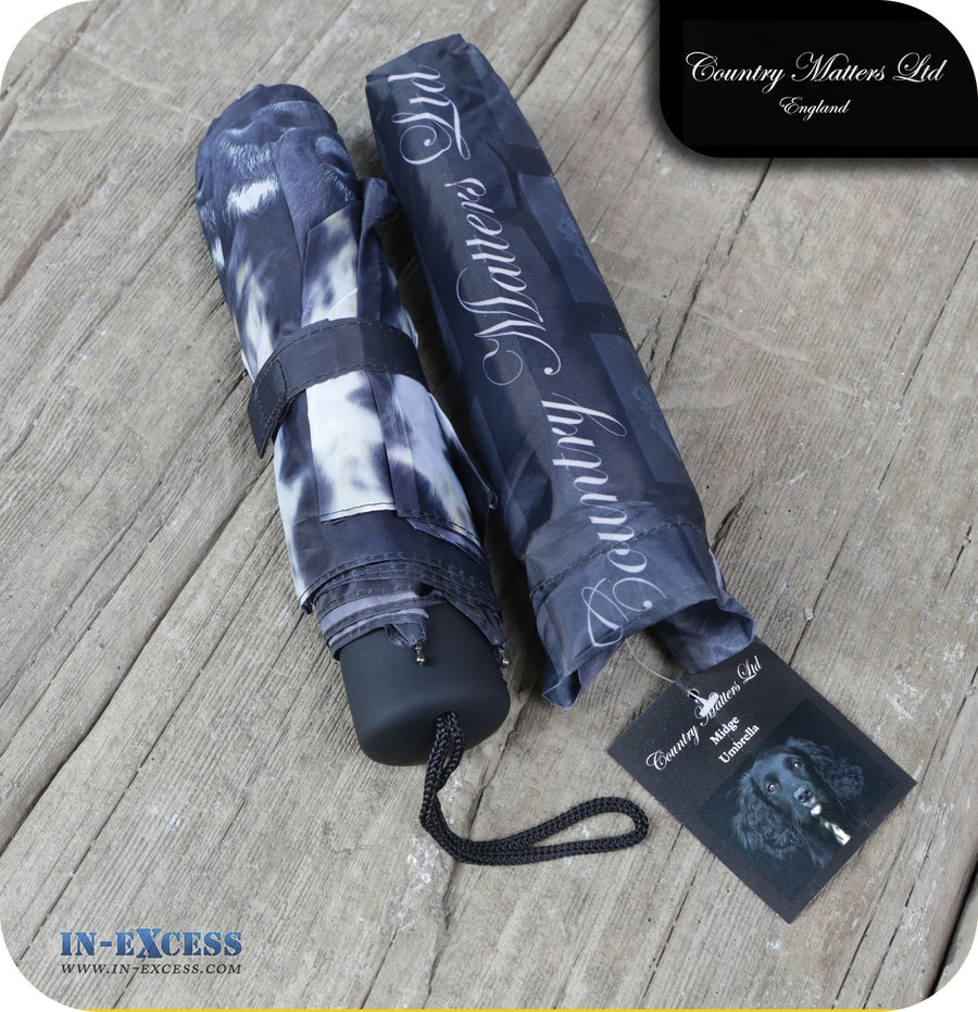 Country Matters Telescopic and Folding Umbrella - 'Midge'