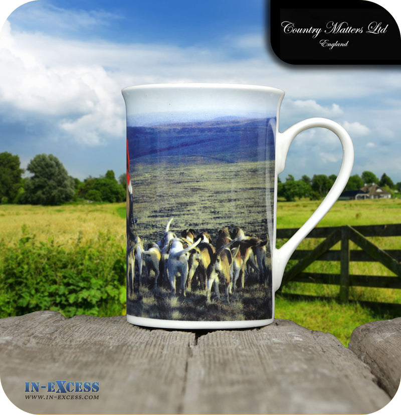 Country Matters Fine Bone China Tea Mug - 'Hounds and Master'