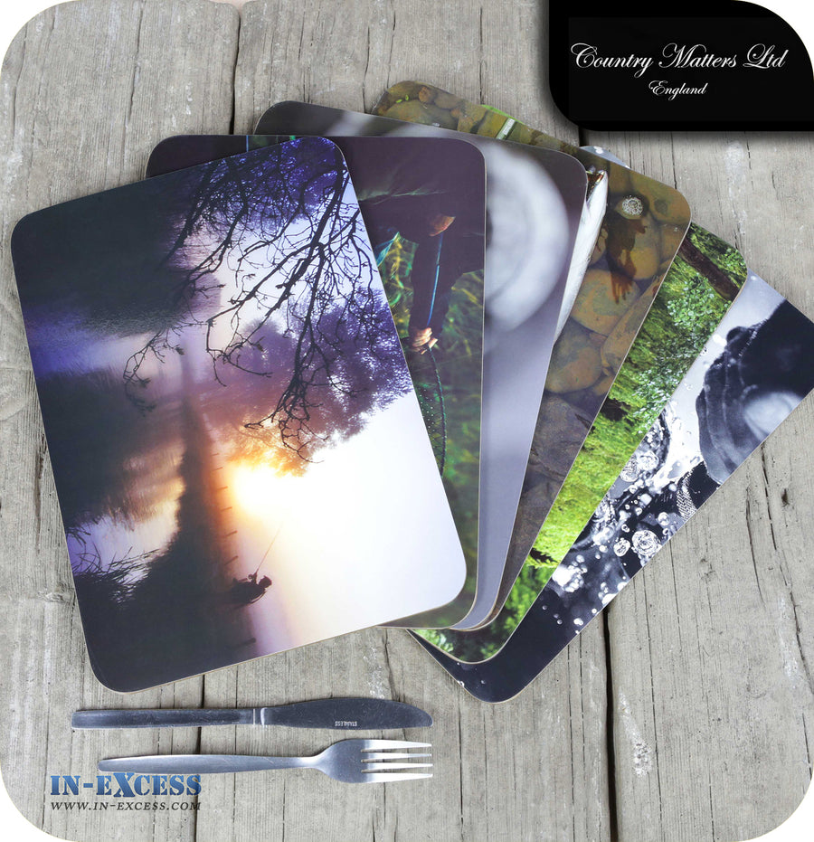 Country Matters Assorted Fishing Placemats - Pack of 6