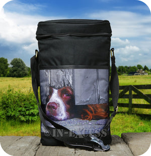 Country Matters Wine Cool Bag With Corkscrew - 'I Spy Spaniel'