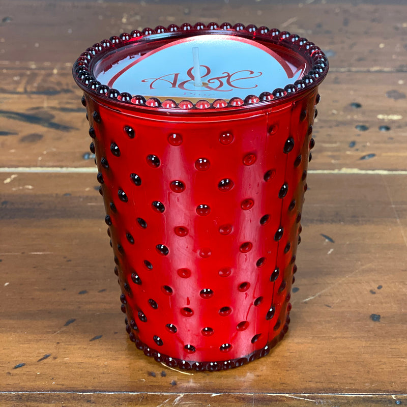 Luxury Mercury Glass Pine Large Scented Candle - Red