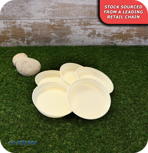 Plastic Circular Pot Saucers - Pack of 5 Creme