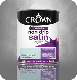 Crown Paints Non Drip Quick Drying Satin Interior Paint - Stepping Stone (750ml)