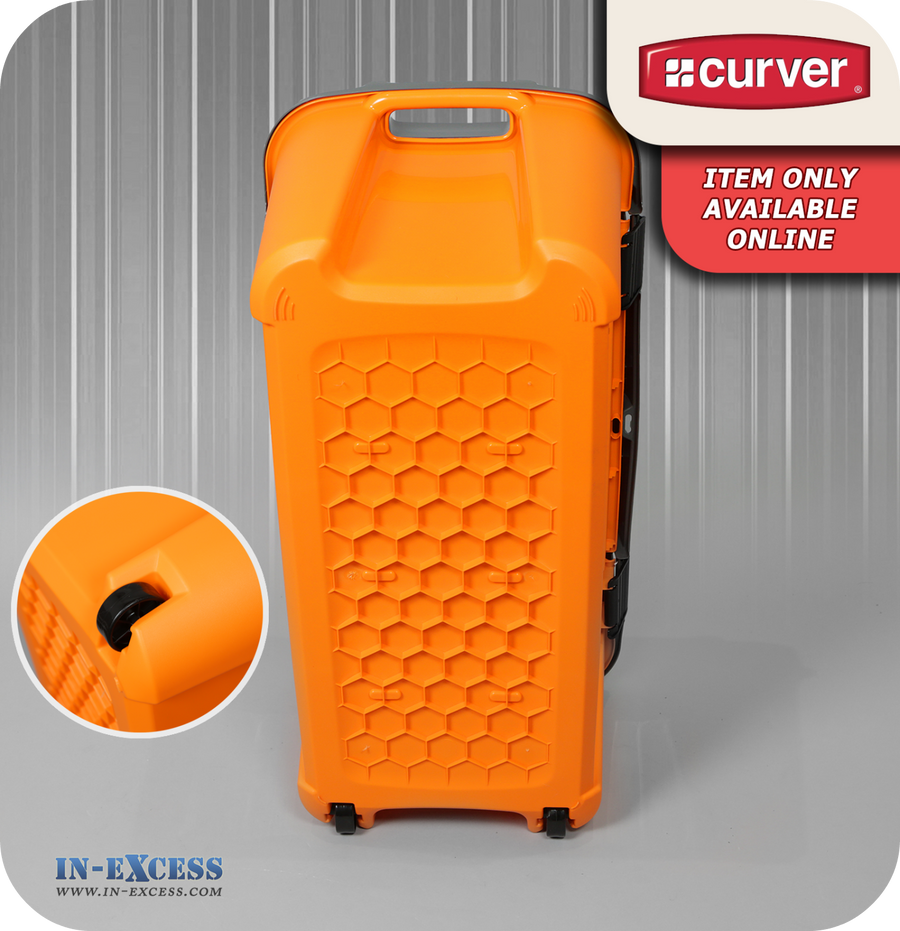Curver Tuff Loft Storage Box Orange & Grey - 80 Litres
