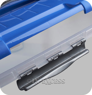 Curver Optima Handy Storage Box With Blue Lid - 8 Litre Storage Capacity
