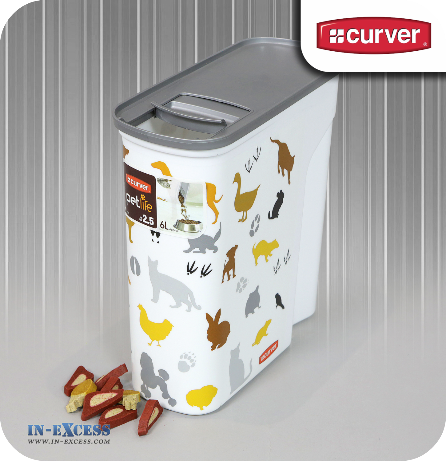 Curver Multi Pet Dry Food Container 25kg 6 Litres In Excess
