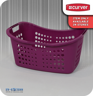Curver Plastic 50 Litre Laundry Basket - Purple
