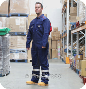 DAF Heavy Duty Mechanics Boiler Work Wear Overalls - Navy Blue