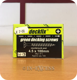 Deckfix Organic Green Countersunk Pozi Decking Screws 4.5 x 100mm - Pack of 100