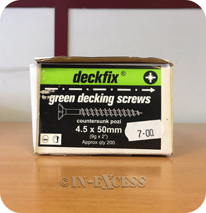 Deckfix Organic Green Countersunk Pozi Decking Screws 4.5 x 50mm - Pack of 200