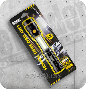 Defender LED 250 Duo COB Technology Torch With Magnetic Base - Batteries Included