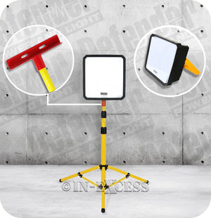 Defender Industrial Site Telescopic Zone Light & Tripod Stand - 50W