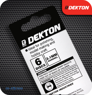 Dekton Rubber Polishing Disc Set - Pack of 6