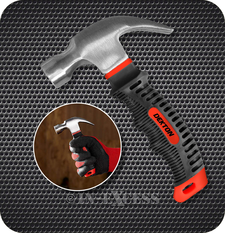 Dekton 8oz Drop Forged High Carbon Steel Stubby Claw Professional Hammer