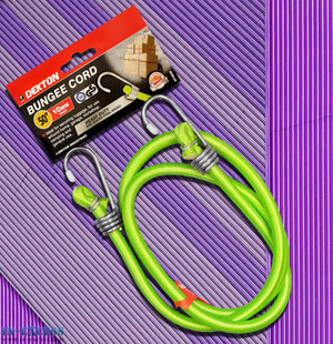 "Dekton 50"" 10mm Thick Bungee Cord With Zinc Plated Hooks"