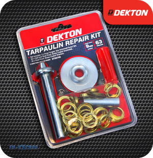 Dekton Tarpaulin Repair Kit - 63 Pieces