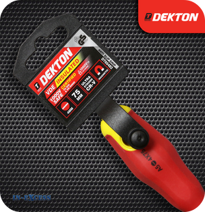 Dekton VDE Insulated Screwdriver 4mm Flat - 75mm