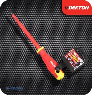 Dekton VDE Insulated Screwdriver 5.5mm Flat - 125mm