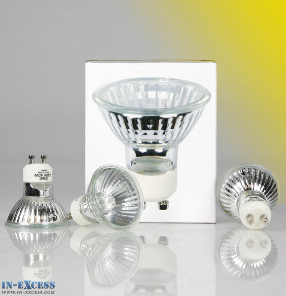 Pack of 20 GU10 Halogen Eco Lamps/Bulbs 40w 300 lumen 2750k Warm