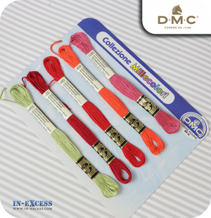 DMC Colours Collection Cotton Thread - Mixed Pack of 5 Skeins