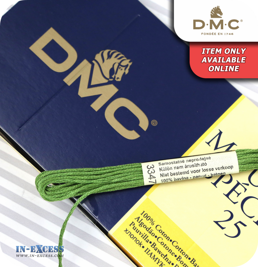 DMC Mouliné Special 25 Cotton Thread - Pack of 16 Skeins (3347 Yellow Green)