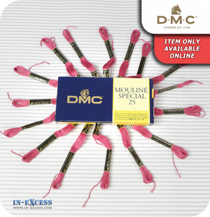 DMC Mouliné Special 25 Cotton Thread - Pack of 16 Skeins (3731 Dusty Rose)