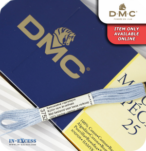 DMC Mouliné Special 25 Cotton Thread - Pack of 16 Skeins (3752 Antique Blue)