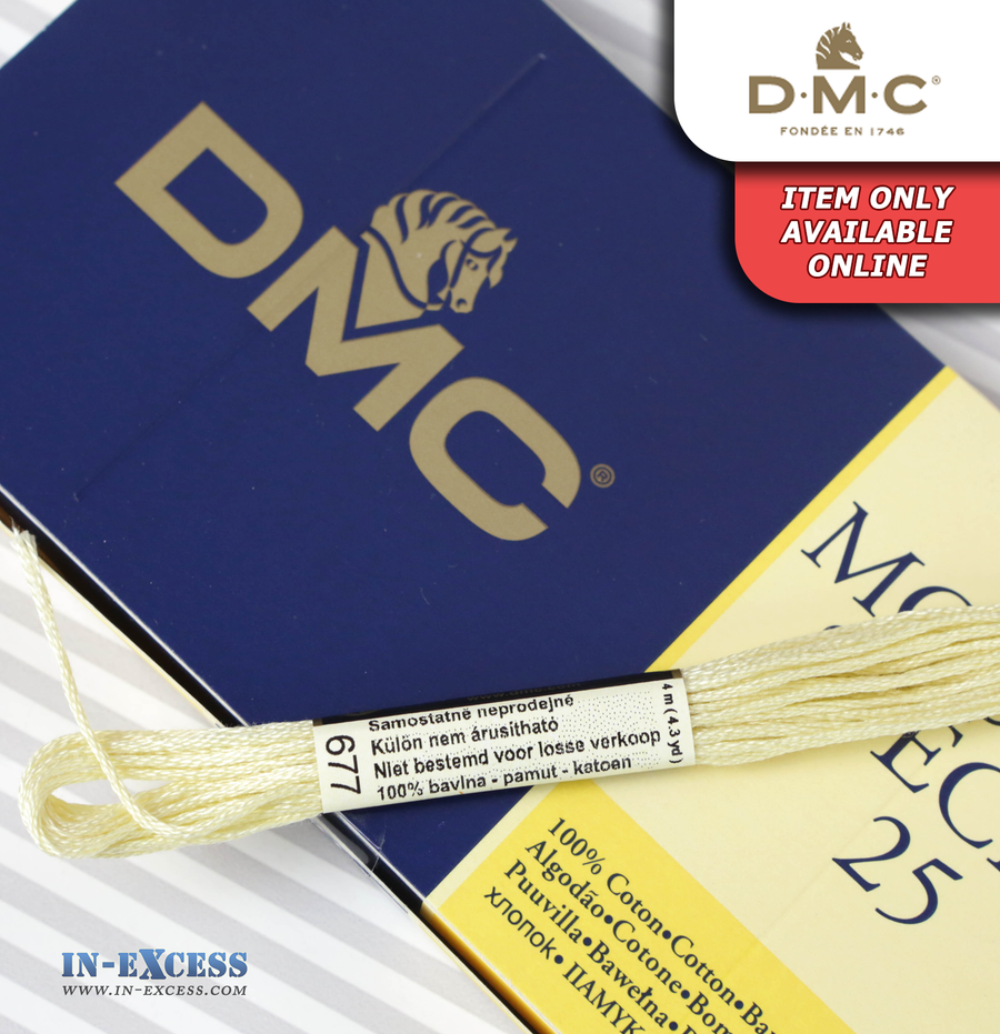 DMC Mouliné Special 25 Cotton Thread - Pack of 16 Skeins (677 Old Gold)