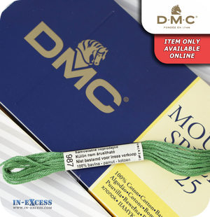 DMC Mouliné Special 25 Cotton Thread - Pack of 16 Skeins (987 Forest Green)
