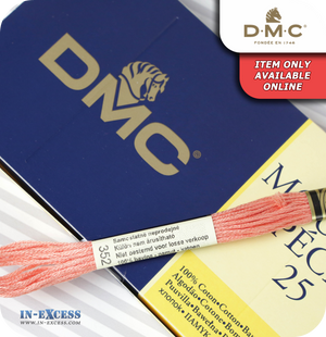 DMC Mouliné Special 25 Cotton Thread - Pack of 16 Skeins (352 Light Coral)