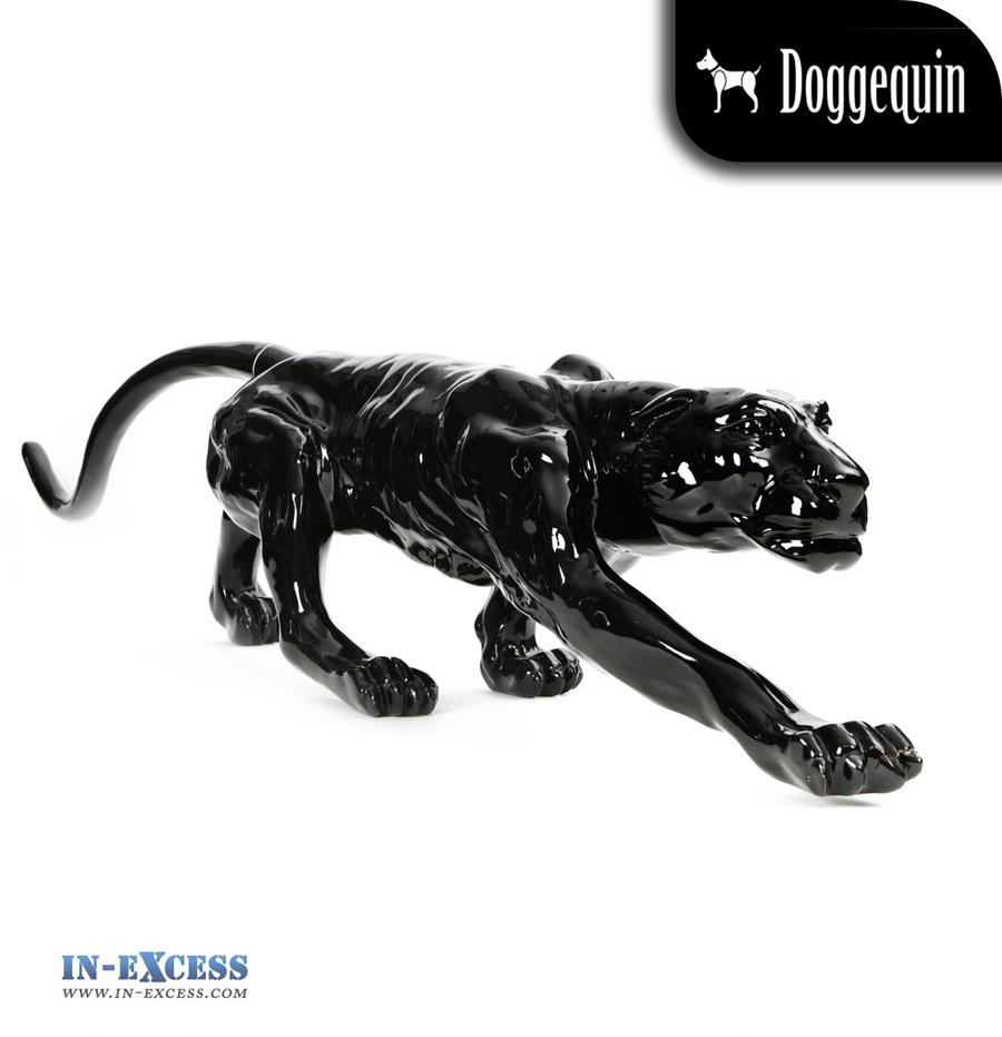Doggequin Cleo The Life Size Leopard Mannequin - Black
