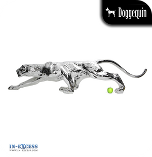 Doggequin Cleo The Life Size Leopard Mannequin - Chrome
