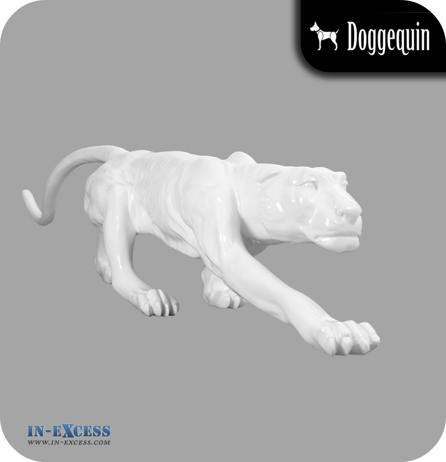 Doggequin Cleo The Life Size Leopard Mannequin - White