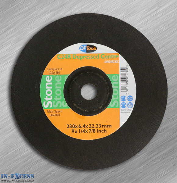DP Tools Stone Cutting Disc 230mm C24R Depressed Centre