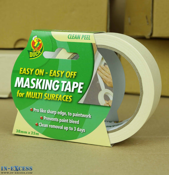 Duck Tape Easy On - Easy Off Masking Tape Clean Peel 38mm x 25m