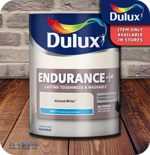 Dulux Endurance+ Matt Emulsion Almond White - 5 Litres