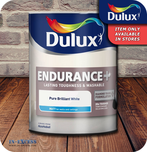 Dulux Endurance+ Matt Emulsion Pure Brilliant White - 5 Litres
