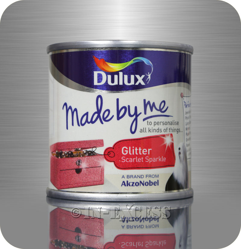 Dulux Made By Me Hobby & Craft Paint 125ml - Glitter Scarlet Sparkle