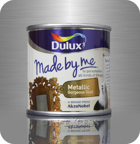 Dulux Made By Me Hobby Craft Paint 125ml - Metallic Gorgeous Gold