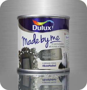 Dulux Made By Me Hobby & Craft Paint 125ml - Metallic Stunning Silver