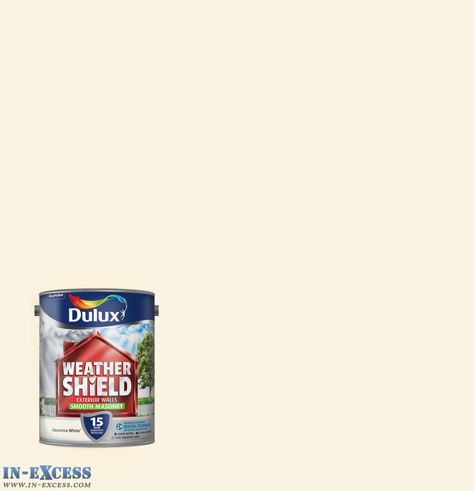 Dulux weather shield exterior walls masonry paint smooth jasmine whi in excess direct - White exterior masonry paint image ...