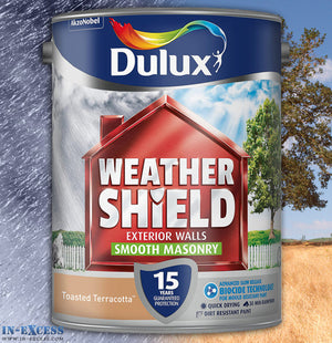 Dulux Weather Shield Exterior Walls Masonry Paint - Smooth Toasted Terracotta 5 Litre
