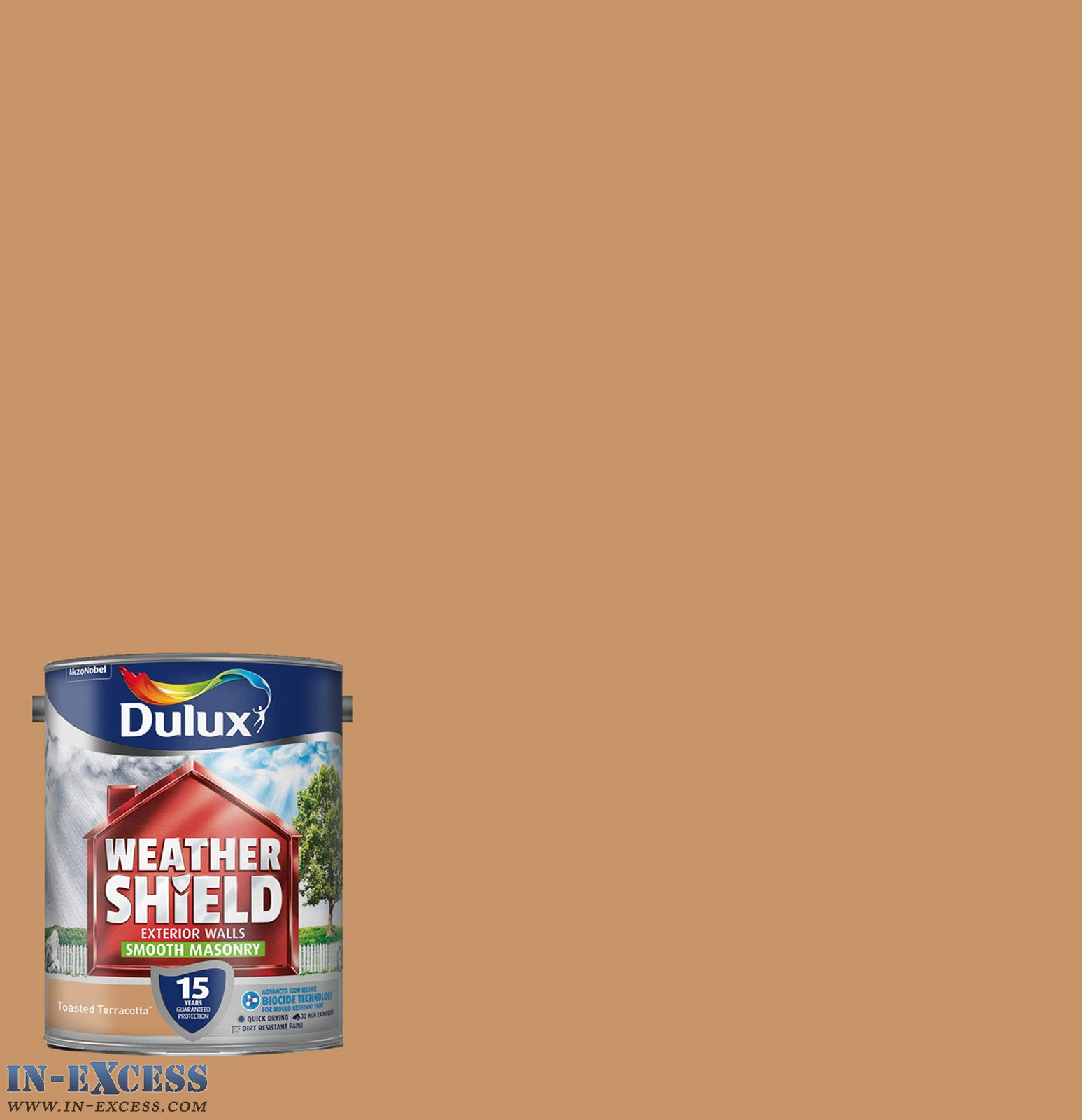 dulux weather shield exterior walls masonry paint smooth toasted terracotta 5 litre - Terracotta Wall Paint