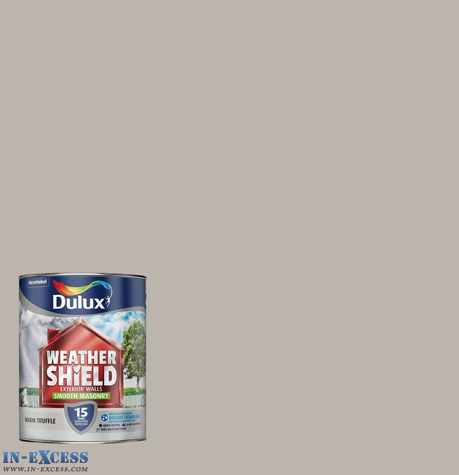 Dulux weather shield exterior walls masonry paint smooth warm truffl in excess direct - Exterior textured masonry paint model ...