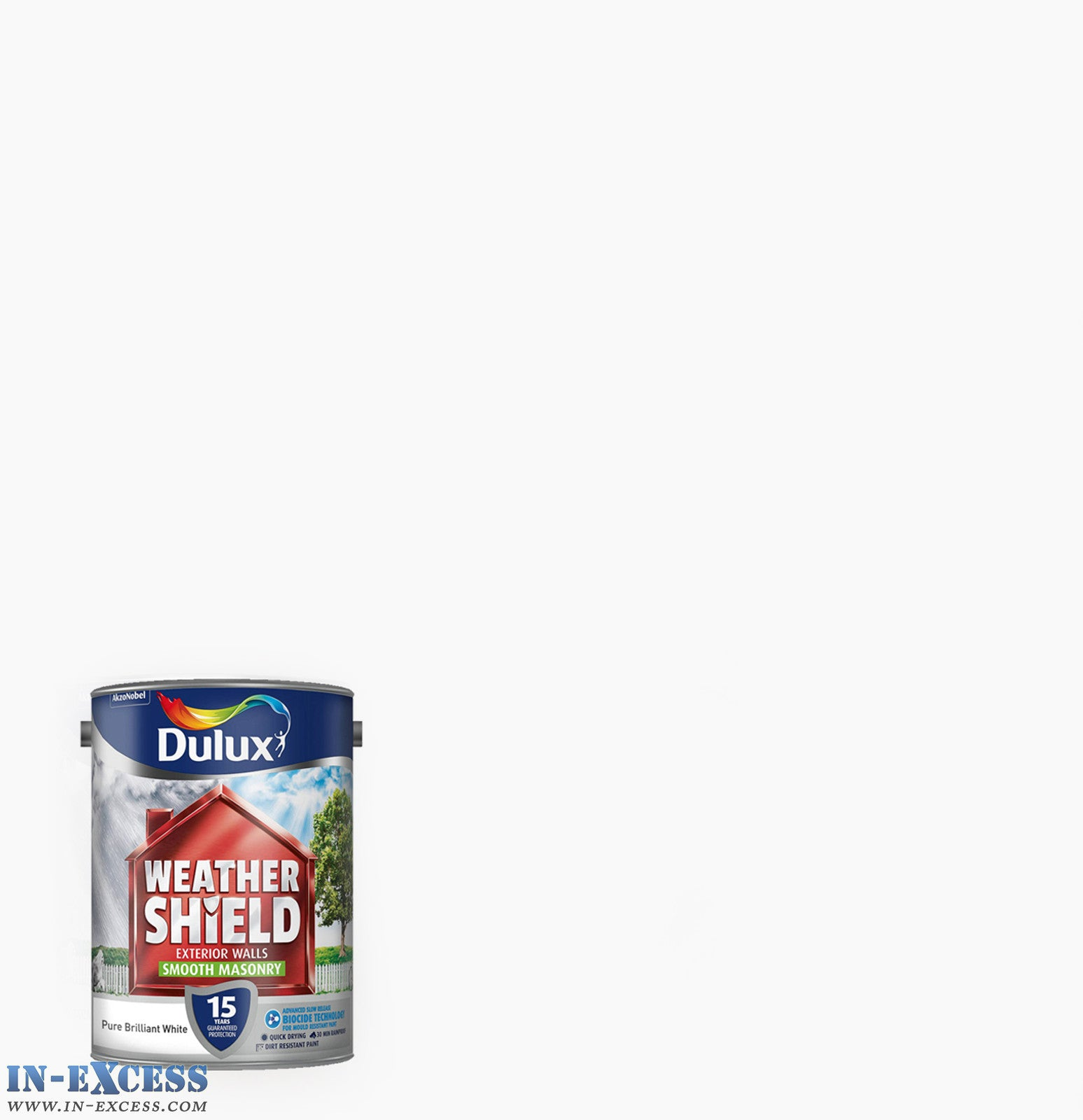 Dulux Weather Shield Exterior Walls Masonry Paint Textured Pure Bril In Excess Direct
